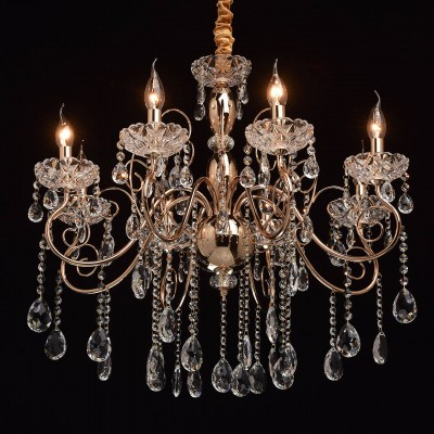 Mw light 373011308 СветильникПодвесные<br><br><br>Установка на натяжной потолок: Да<br>S освещ. до, м2: 16<br>Тип лампы: Накаливания / энергосбережения / светодиодная<br>Тип цоколя: E14<br>Количество ламп: 8<br>MAX мощность ламп, Вт: 40<br>Диаметр, мм мм: 720<br>Высота, мм: 810 - 1050<br>Цвет арматуры: золотой