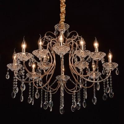 Mw light 373012412 СветильникПодвесные<br><br><br>Установка на натяжной потолок: Да<br>S освещ. до, м2: 24<br>Тип лампы: Накаливания / энергосбережения / светодиодная<br>Тип цоколя: E14<br>Количество ламп: 12<br>MAX мощность ламп, Вт: 40<br>Диаметр, мм мм: 840<br>Высота, мм: 860 - 1100<br>Цвет арматуры: золотой