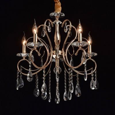 Mw light 373012705 СветильникПодвесные<br><br><br>Установка на натяжной потолок: Да<br>S освещ. до, м2: 10<br>Тип лампы: Накаливания / энергосбережения / светодиодная<br>Тип цоколя: E14<br>Цвет арматуры: золотой<br>Количество ламп: 5<br>Диаметр, мм мм: 560<br>Высота, мм: 790 - 1000<br>MAX мощность ламп, Вт: 40