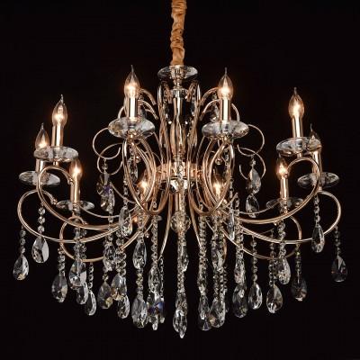 Mw light 373012910 СветильникПодвесные<br><br><br>Установка на натяжной потолок: Да<br>S освещ. до, м2: 20<br>Тип лампы: Накаливания / энергосбережения / светодиодная<br>Тип цоколя: E14<br>Цвет арматуры: золотой<br>Количество ламп: 10<br>Диаметр, мм мм: 780<br>Высота, мм: 840 - 1080<br>MAX мощность ламп, Вт: 40