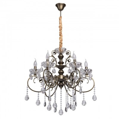 373013706 Mw light Светильниклюстры подвесные классические<br><br><br>Установка на натяжной потолок: Да<br>S освещ. до, м2: 12<br>Тип лампы: Накаливания / энергосбережения / светодиодная<br>Тип цоколя: E14<br>Количество ламп: 6<br>Диаметр, мм мм: 660<br>Высота, мм: 1150<br>MAX мощность ламп, Вт: 40