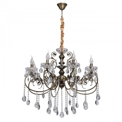 373013808 Mw light СветильникПодвесные<br><br><br>Установка на натяжной потолок: Да<br>S освещ. до, м2: 16<br>Тип лампы: Накаливания / энергосбережения / светодиодная<br>Тип цоколя: E14<br>Количество ламп: 8<br>Диаметр, мм мм: 670<br>Высота, мм: 1200<br>MAX мощность ламп, Вт: 40
