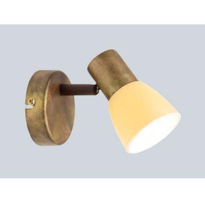 Светильник спот Brilliant 35810/56 LucaОдиночные<br>Зачастую мы ищем идеальное освещение для своего дома и уделяем этому достаточно много времени. Так, например, если нам нужен светильник с количеством ламп - 1 и цвет плафонов должен быть - желтый, а материал плафонов только стекло! То нам, как вариант, подойдет модель - спот Brilliant 35810/56.<br><br>S освещ. до, м2: 2<br>Тип лампы: накал-я - энергосбер-я<br>Тип цоколя: E14<br>Цвет арматуры: коричневый<br>Количество ламп: 1<br>Диаметр, мм мм: 85<br>Выступ, мм: 165<br>MAX мощность ламп, Вт: 40