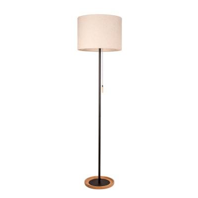 Торшер напольный Mw light 380043701 Уют02С абажуром<br>Описание модели 380043701: Строгие по дизайну, но очень функциональные в эксплуатации настольная лампа и торшер из коллекции Уют понравятся консерваторам и ценителям домашнего уюта. Зональные светильники стиля Мегаполис подойдут для освещения интерьеров, выполненных в скандинавском стиле. Особенно выигрышно эти светильники будут смотреться в ансамбле с мебелью из светлых пород дерева, так как в отделке торшера и настольной лампы использовано натуральное дерево цвета ольхи. На металлическом основании чёрного цвета располагается абажур традиционной цилиндрической формы из натуральной ткани. Зональные светильники из коллекции Уют с традиционными лампочками накаливания снабжены удобной цепочкой-включателем. Светильники из коллекции Уют - отличное решение для создания домашней и уютной атмосферы в интерьере.<br><br>S освещ. до, м2: 2<br>Тип лампы: накаливания / энергосбережения / LED-светодиодная<br>Тип цоколя: E27<br>Диаметр, мм мм: 400<br>Высота, мм: 1550<br>MAX мощность ламп, Вт: 40<br>Общая мощность, Вт: 40