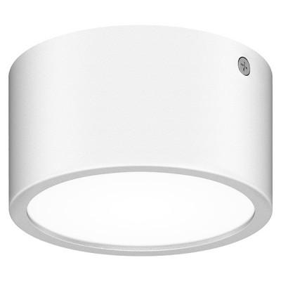 Светильник уличный светодиодный Lightstar 380163 Zollaсветильники стаканы потолочные<br>Крепление: a; Внешние габариты: D110 H60; Материал - основание/плафон: металл/пластик ; Цвет-основание/плафон: белый; Лампа: LED 8Вт соответствует Вт лампе накаливания, Световой поток: 640LM; 3000K