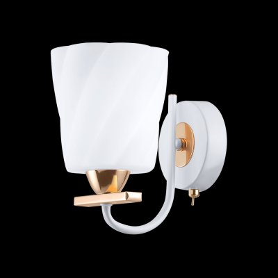 Светильник Idlamp 380/1A Whitegoldсовременные бра модерн<br><br><br>S освещ. до, м2: 4<br>Крепление: Настенные<br>Тип цоколя: E14<br>Цвет арматуры: золотой<br>Количество ламп: 1<br>Ширина, мм: 100<br>Расстояние от стены, мм: 200<br>Высота, мм: 190<br>Оттенок (цвет): белый<br>MAX мощность ламп, Вт: 60