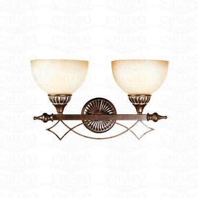 Светильник настенный бра Chiaro 382020402 АйвенгоКлассика<br>Описание модели 382020402: Свет, сияющий через декоративное стекло плафона в светильнике Айвенго, очаровывает своей особой радужной палитрой! Хорошей огранкой для такого тёплого великолепного свечения служит сдержанное по деталям кованое основание. Благородный вид зажжёного светильника доставляет эстетическую радость!<br><br>S освещ. до, м2: 6<br>Тип товара: Светильник настенный бра<br>Тип лампы: накаливания / энергосбережения / LED-светодиодная<br>Тип цоколя: E27<br>Количество ламп: 2<br>Ширина, мм: 200<br>MAX мощность ламп, Вт: 60<br>Длина, мм: 450<br>Высота, мм: 280