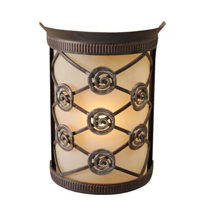 Светильник настенный бра Chiaro 382026301 АйвенгоРустика<br>Описание модели 382026301: Компактный  абажур горчичного цвета заботливо укрывает свет, струящийся от металлической свечи. Кованое основание сделано вручную и украшено по кайме затейливым орнаментом и металлическими декоративными элементами, напоминающими розы.<br><br>S освещ. до, м2: 2<br>Тип лампы: накаливания / энергосбережения / LED-светодиодная<br>Тип цоколя: E14<br>Количество ламп: 1<br>Ширина, мм: 180<br>MAX мощность ламп, Вт: 40<br>Длина, мм: 230<br>Высота, мм: 100<br>Поверхность арматуры: матовый, рельефный<br>Цвет арматуры: бронзовый