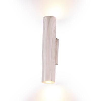 Светильник Odeon Light 3826/8WLсовременные бра модерн<br>Светодиодная настенная подсветка  Woody в цвете светлый ясень прекрасно впишется в интерьерах в стиле Эко или стиле Эко-лофта в светлых тонах,  и будет прекрасно сочетаться с цветом натуральной и естественной зелени. Орнамент, имитирующий фактуру натурального  дерева в цвете светлый ясен, нанесен на металл.  Серия прекрасно подойдет для кухни, коридора, детской. Настенный светильник имеет лучи, направленные вверх и вниз. Светильник дает два световых пучка - вверх и вниз суммарной мощностью 8W 640Лм 3000К.