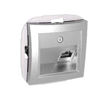 Lexel Дуэт серебро Компьютерная розетка RJ45 кат. 5e, одиночная (SE WDE000383)Серебро<br><br><br>Оттенок (цвет): серебристый