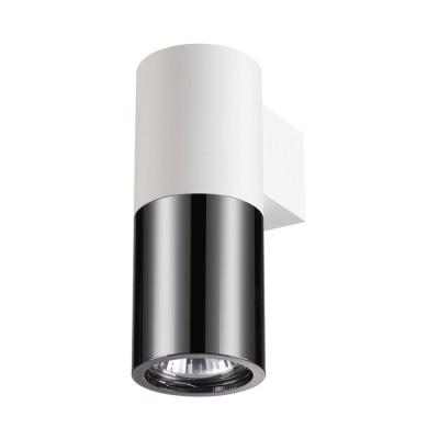 Светильник Odeon light 3834/1WБра хай тек стиля<br>Черно-белое сочетание - всегда актуально и всегда привлекает к себе внимание, особенно когда черный цвет - черненый хром.