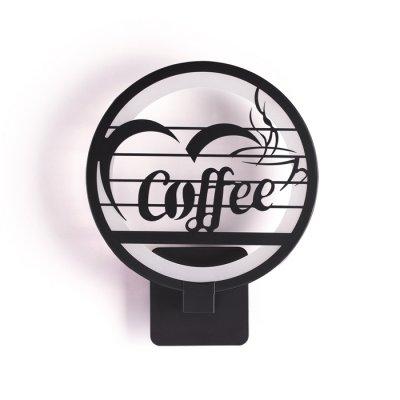 Настенный светильник Odeon light 3842/15WL WALLPICсовременные бра модерн<br>Настенный светильник в черном цвете является одновременно источником освещения и стильным предметом декора. В нем сочетаются две цветовых температуры - 3500К во внутреннем круге, и 6000К во внешнем.