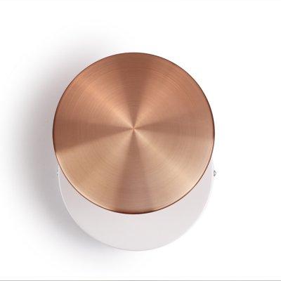 Настенный светильник Odeon light 3852/15WL PLUMBAсовременные бра модерн<br>Стильные настенные светильники в цвете хром и медь - в тренде последнего года. Они компактные и одновременно функциональные. Особенно эффектно они будут смотреться в виде панно из светильников разного диаметра.