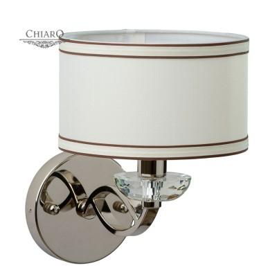 Светильник настенный бра Chiaro 386025101 ПалермоКлассические<br>Описание модели 386025101: Для ценителей строгих, сдержанных элегантных решений в интерьере идеально подойдёт люстра из коллекции Палермо. В ней есть всё, что может привлечь обладателя хорошего вкуса: необычные детали, смелые сочетания, изящные линии. Основание люстры сделано из металла с гальваническим покрытием цвета хрома. Этот холодный оттенок гармонично сочетается с абажуром нежно-сливочного оттенка. Помимо «вкусного» основного тона, тканевые абажуры украшены окантовкой цвета темного шоколада, дополняющие общее цветовое решение. Привлекает внимание и необычный дизайн рожка – он выполнен из плоского профиля, а в завершение композиции украшен восхитительным декоративным элементом из массива хрусталя звездной огранки. Блеск, мягкая игра света, утонченный стиль ар-деко – всё это есть в светильнике Палермо. Площадь освещения люстры порядка 24 кв.м.<br><br>S освещ. до, м2: 2<br>Тип лампы: Накаливания / энергосбережения / светодиодная<br>Тип цоколя: E14<br>Количество ламп: 1<br>Ширина, мм: 200<br>Длина, мм: 300<br>Высота, мм: 280<br>MAX мощность ламп, Вт: 40