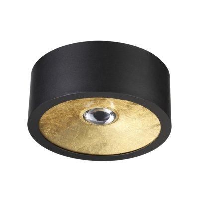 Потолочный накладной светильник Odeon light 3878/1CL GLASGOWсветильники стаканы потолочные<br>Корпус потолочного накладного светильника выполнен в черном матовом цвете, внутренняя часть - в трендовом цвете золотистого фольгирования. В светильнике используются сменные лампы с цоколем GU10: смену лампы можно осуществить за счет съемного верхнего корпуса.