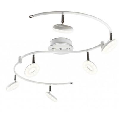 Cветильник Idlamp 390/6PF LEDWhitechromeБолее 5 ламп<br>Светильники-споты – это оригинальные изделия с современным дизайном. Они позволяют не ограничивать свою фантазию при выборе освещения для интерьера. Такие модели обеспечивают достаточно качественный свет. Благодаря компактным размерам Вы можете использовать несколько спотов для одного помещения.  Интернет-магазин «Светодом» предлагает необычный светильник-спот IDLamp 390/6PF-LEDWhitechrome по привлекательной цене. Эта модель станет отличным дополнением к люстре, выполненной в том же стиле. Перед оформлением заказа изучите характеристики изделия.  Купить светильник-спот IDLamp 390/6PF-LEDWhitechrome в нашем онлайн-магазине Вы можете либо с помощью формы на сайте, либо по указанным выше телефонам. Обратите внимание, что у нас склады не только в Москве и Екатеринбурге, но и других городах России.<br><br>S освещ. до, м2: 15<br>Крепление: Потолочные<br>Цветовая t, К: 4200<br>Тип лампы: LED<br>Тип цоколя: LED<br>Цвет арматуры: Белый + хром<br>Количество ламп: 6<br>Ширина, мм: 140<br>Длина, мм: 520<br>Высота, мм: 140<br>MAX мощность ламп, Вт: 6