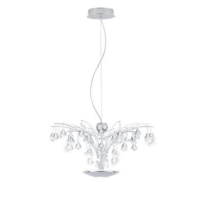 Eglo MIRAMAS 39032 Светодиодный подвесподвесные хрустальные люстры<br><br><br>Установка на натяжной потолок: Да<br>S освещ. до, м2: 7<br>Тип лампы: LED - светодиодная<br>Тип цоколя: LED<br>Количество ламп: 1<br>Диаметр, мм мм: 660<br>Высота, мм: 1100<br>MAX мощность ламп, Вт: 16,8
