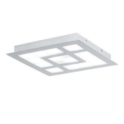 Eglo VALMORO 39046 Светодиодный настенно-потолочный светильникквадратные светильники<br><br><br>S освещ. до, м2: 13<br>Цветовая t, К: 4000<br>Тип лампы: LED - светодиодная<br>Тип цоколя: LED<br>Количество ламп: 14<br>Ширина, мм: 370<br>Длина, мм: 370<br>Высота, мм: 45<br>MAX мощность ламп, Вт: 2,4