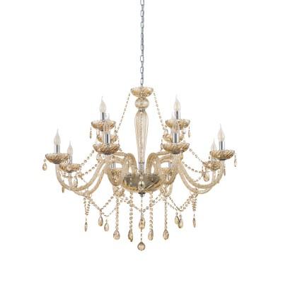 39094 Eglo - Люстра BASILANOПодвесные<br><br><br>S освещ. до, м2: 24<br>Тип лампы: Накаливания / энергосбережения / светодиодная<br>Тип цоколя: E14<br>Количество ламп: 12<br>MAX мощность ламп, Вт: 40<br>Диаметр, мм мм: 1000<br>Высота, мм: 1500