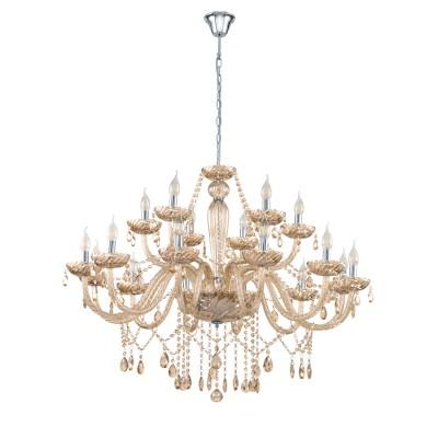 39095 Eglo - Люстра BASILANOПодвесные<br><br><br>Установка на натяжной потолок: Да<br>S освещ. до, м2: 36<br>Тип лампы: LED - светодиодная<br>Тип цоколя: E14<br>Количество ламп: 18<br>MAX мощность ламп, Вт: 40<br>Диаметр, мм мм: 1000<br>Высота, мм: 1500