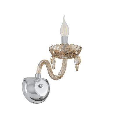 39096 Eglo - Бра BASILANOХрустальные<br><br><br>Тип лампы: Накаливания / энергосбережения / светодиодная<br>Тип цоколя: E14<br>Количество ламп: 1<br>Ширина, мм: 130<br>MAX мощность ламп, Вт: 40<br>Расстояние от стены, мм: 300<br>Высота, мм: 250