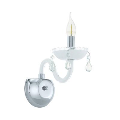 39115 Eglo - Бра CARPENTOКлассические<br><br><br>Тип лампы: Накаливания / энергосбережения / светодиодная<br>Тип цоколя: E14<br>Количество ламп: 1<br>Ширина, мм: 130<br>MAX мощность ламп, Вт: 40<br>Расстояние от стены, мм: 250<br>Высота, мм: 300