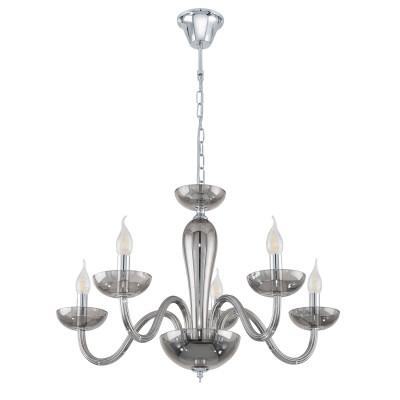 39117 Eglo - Люстра FALCADOПодвесные<br><br><br>Установка на натяжной потолок: Да<br>S освещ. до, м2: 10<br>Тип лампы: Накаливания / энергосбережения / светодиодная<br>Тип цоколя: E14<br>Количество ламп: 5<br>Диаметр, мм мм: 710<br>Высота, мм: 1100<br>MAX мощность ламп, Вт: 40