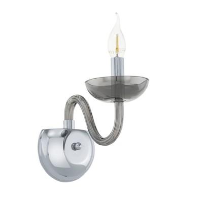 39119 Eglo - Бра FALCADOСовременные<br><br><br>Тип лампы: Накаливания / энергосбережения / светодиодная<br>Тип цоколя: E14<br>Количество ламп: 1<br>Ширина, мм: 120<br>Расстояние от стены, мм: 230<br>Высота, мм: 280<br>MAX мощность ламп, Вт: 40