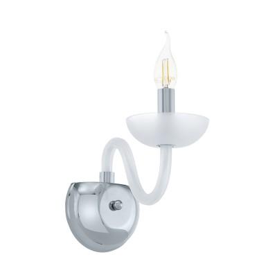 39124 Eglo - Бра FALCADO 1Современные<br><br><br>Тип лампы: Накаливания / энергосбережения / светодиодная<br>Тип цоколя: E14<br>Количество ламп: 1<br>Ширина, мм: 120<br>MAX мощность ламп, Вт: 40<br>Расстояние от стены, мм: 230<br>Высота, мм: 280