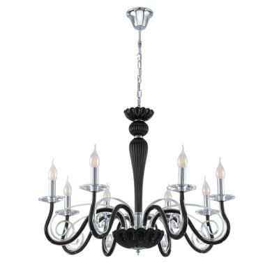 39127 Eglo - Люстра MEDUNOПодвесные<br><br><br>Установка на натяжной потолок: Да<br>S освещ. до, м2: 16<br>Тип лампы: Накаливания / энергосбережения / светодиодная<br>Тип цоколя: E14<br>Количество ламп: 8<br>Диаметр, мм мм: 760<br>Высота, мм: 1200<br>MAX мощность ламп, Вт: 40