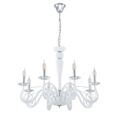 39131 Eglo - Люстра MEDUNO 1Подвесные<br><br><br>Установка на натяжной потолок: Да<br>S освещ. до, м2: 16<br>Тип лампы: Накаливания / энергосбережения / светодиодная<br>Тип цоколя: E14<br>Количество ламп: 8<br>Диаметр, мм мм: 760<br>Высота, мм: 1200<br>MAX мощность ламп, Вт: 40