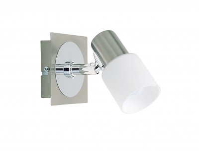 Спот Brilliant 39411/77 OcaОдиночные<br>Зачастую мы ищем идеальное освещение для своего дома и уделяем этому достаточно много времени. Так, например, если нам нужен светильник с количеством ламп - 1 и цвет плафонов должен быть - белый, а материал плафонов только стекло! То нам, как вариант, подойдет модель - спот Brilliant 39411/77.<br><br>S освещ. до, м2: 2<br>Тип лампы: накал-я - энергосбер-я<br>Тип цоколя: E14<br>Количество ламп: 1<br>Ширина, мм: 100<br>MAX мощность ламп, Вт: 40<br>Высота, мм: 100<br>Цвет арматуры: серебристый