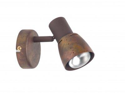 Светильник спот Brilliant 39510/56 LavaОдиночные<br>Зачастую мы ищем идеальное освещение для своего дома и уделяем этому достаточно много времени. Так, например, если нам нужен светильник с количеством ламп - 1 и цвет плафонов должен быть - старая медь, а материал плафонов только металл! То нам, как вариант, подойдет модель - спот Brilliant 39510/56.<br><br>S освещ. до, м2: 2<br>Тип лампы: накал-я - энергосбер-я<br>Тип цоколя: E14<br>Цвет арматуры: коричневый<br>Количество ламп: 1<br>Диаметр, мм мм: 85<br>MAX мощность ламп, Вт: 40