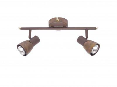 Светильник Brilliant 39513/56 LavaТройные<br>Зачастую мы ищем идеальное освещение для своего дома и уделяем этому достаточно много времени. Так, например, если нам нужен светильник с количеством ламп - 2 и цвет плафонов должен быть - старая медь, а материал плафонов только металл! То нам, как вариант, подойдет модель - система спотов Brilliant 39513/56.<br><br>S освещ. до, м2: 5<br>Тип лампы: накал-я - энергосбер-я<br>Тип цоколя: E14<br>Цвет арматуры: коричневый<br>Количество ламп: 2<br>Ширина, мм: 400<br>MAX мощность ламп, Вт: 40