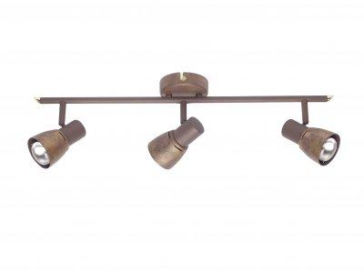 Светильник Brilliant 39516/56 LavaТройные<br>Зачастую мы ищем идеальное освещение для своего дома и уделяем этому достаточно много времени. Так, например, если нам нужен светильник с количеством ламп - 3 и цвет плафонов должен быть - старая медь, а материал плафонов только металл! То нам, как вариант, подойдет модель - система спотов Brilliant 39516/56.<br><br>S освещ. до, м2: 8<br>Тип лампы: накал-я - энергосбер-я<br>Тип цоколя: E14<br>Цвет арматуры: коричневый<br>Количество ламп: 3<br>Ширина, мм: 600<br>MAX мощность ламп, Вт: 40