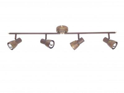 Светильник Brilliant 39532/56 LavaС 4 лампами<br>Зачастую мы ищем идеальное освещение для своего дома и уделяем этому достаточно много времени. Так, например, если нам нужен светильник с количеством ламп - 4 и цвет плафонов должен быть - старая медь, а материал плафонов только металл! То нам, как вариант, подойдет модель - система спотов Brilliant 39532/56.<br><br>S освещ. до, м2: 10<br>Тип товара: Светильник поворотный спот<br>Тип лампы: накал-я - энергосбер-я<br>Тип цоколя: E14<br>Количество ламп: 4<br>Ширина, мм: 880<br>MAX мощность ламп, Вт: 40<br>Цвет арматуры: коричневый