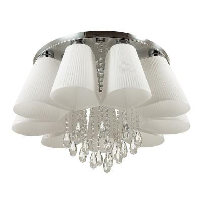 Люстра потолочная Odeon light 3961/9C VOLANOсовременные потолочные люстры<br>Люстра 3961/5C серии Volano смотрится по-настоящему волшебно. Пять белых плафонов с тонким изящным р