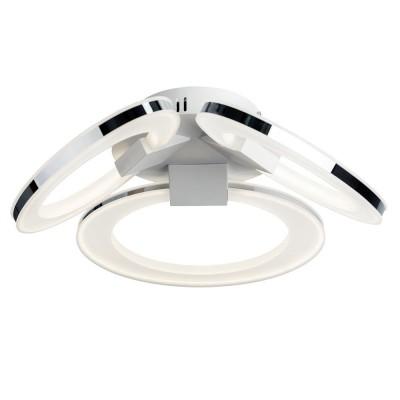 Потолочный светильник Idlamp 400/3PF LEDWhitechromeПотолочные<br>Компания «Светодом» предлагает широкий ассортимент люстр от известных производителей. Представленные в нашем каталоге товары выполнены из современных материалов и обладают отличным качеством. Благодаря широкому ассортименту Вы сможете найти у нас люстру под любой интерьер. Мы предлагаем как классические варианты, так и современные модели, отличающиеся лаконичностью и простотой форм.  Стильная люстра IDLamp 400/3PF-LEDWhitechrome станет украшением любого дома. Эта модель от известного производителя не оставит равнодушным ценителей красивых и оригинальных предметов интерьера. Люстра IDLamp 400/3PF-LEDWhitechrome обеспечит равномерное распределение света по всей комнате. При выборе обратите внимание на характеристики, позволяющие приобрести наиболее подходящую модель. Купить понравившуюся люстру по доступной цене Вы можете в интернет-магазине «Светодом».<br><br>Установка на натяжной потолок: Да<br>S освещ. до, м2: 18<br>Крепление: Планка<br>Тип лампы: LED<br>Тип цоколя: LED<br>Цвет арматуры: серебристый<br>Количество ламп: 3<br>Диаметр, мм мм: 487<br>Высота, мм: 160<br>MAX мощность ламп, Вт: 45