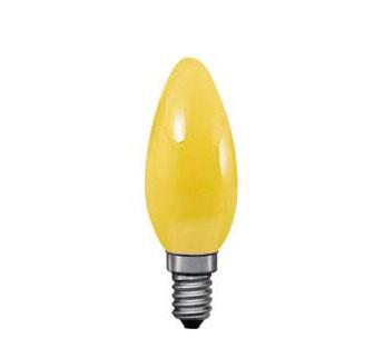 Лампа желтая свеча Paulmann 40222Лампа накаливания в виде свечи<br>В интернет-магазине «Светодом» можно купить не только люстры и светильники, но и лампочки. В нашем каталоге представлены светодиодные, галогенные, энергосберегающие модели и лампы накаливания. В ассортименте имеются изделия разной мощности, поэтому у нас Вы сможете приобрести все необходимое для освещения.   Лампа Paulmann 40222 обеспечит отличное качество освещения. При покупке ознакомьтесь с параметрами в разделе «Характеристики», чтобы не ошибиться в выборе. Там же указано, для каких осветительных приборов Вы можете использовать лампу Paulmann 40222Paulmann 40222.   Для оформления покупки воспользуйтесь «Корзиной». При наличии вопросов Вы можете позвонить нашим менеджерам по одному из контактных номеров. Мы доставляем заказы в Москву, Екатеринбург и другие города России.<br><br>Тип лампы: накаливания<br>Тип цоколя: E14<br>Цвет арматуры: Yellow<br>Высота, мм: 97<br>MAX мощность ламп, Вт: 25