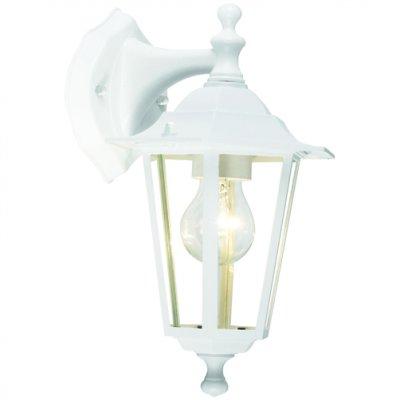 Светильник уличный Brilliant 40282/05 CrownНастенные<br>Зачастую мы ищем идеальное освещение для своего дома и уделяем этому достаточно много времени. Так, например, если нам нужен светильник с количеством ламп - 1 и цвет плафонов должен быть - белый, а материал плафонов только стекло! То нам, как вариант, подойдет модель - светильник уличный Brilliant 40282/05.<br><br>S освещ. до, м2: до 4<br>Тип лампы: накаливания / энергосбережения / LED-светодиодная<br>Тип цоколя: E27<br>Количество ламп: 1<br>Ширина, мм: 180<br>MAX мощность ламп, Вт: 60<br>Высота, мм: 340<br>Цвет арматуры: белый