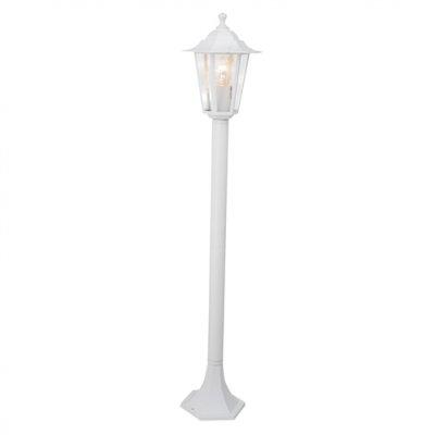 Светильник уличный Brilliant 40285/05 CrownОдиночные столбы<br>Зачастую мы ищем идеальное освещение для своего дома и уделяем этому достаточно много времени. Так, например, если нам нужен светильник с количеством ламп - 1 и цвет плафонов должен быть - белый, а материал плафонов только стекло! То нам, как вариант, подойдет модель - светильник уличный Brilliant 40285/05.<br><br>S освещ. до, м2: до 4<br>Тип лампы: накаливания / энергосбережения / LED-светодиодная<br>Тип цоколя: E27<br>Количество ламп: 1<br>MAX мощность ламп, Вт: 60<br>Диаметр, мм мм: 240<br>Высота, мм: 960<br>Цвет арматуры: белый