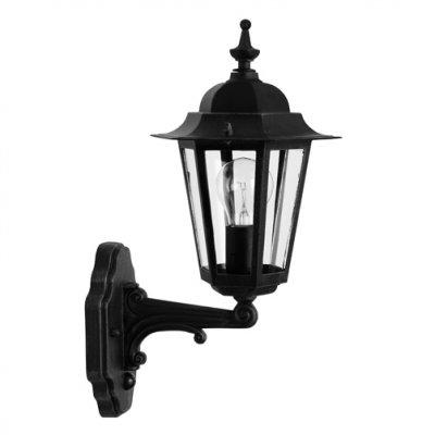 Светильник Brilliant 40297/06 CrownНастенные<br><br><br>S освещ. до, м2: до 4<br>Тип товара: Светильник уличный<br>Тип лампы: накаливания / энергосбережения / LED-светодиодная<br>Тип цоколя: E27<br>Количество ламп: 1<br>Ширина, мм: 190<br>MAX мощность ламп, Вт: 60<br>Высота, мм: 380<br>Цвет арматуры: черный