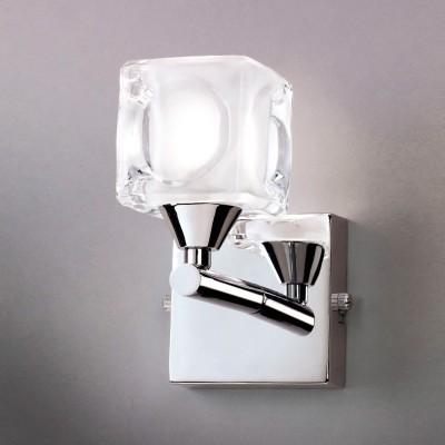Светильник Mantra 4029 CUADRAXДля ванной<br><br><br>S освещ. до, м2: 2<br>Тип лампы: галогенная / LED-светодиодная<br>Тип цоколя: G9<br>Цвет арматуры: серебристый никель<br>Количество ламп: 1<br>Ширина, мм: 85<br>Размеры: W 150 H 150<br>Длина, мм: 130<br>Высота, мм: 155<br>Оттенок (цвет): белый<br>MAX мощность ламп, Вт: 40