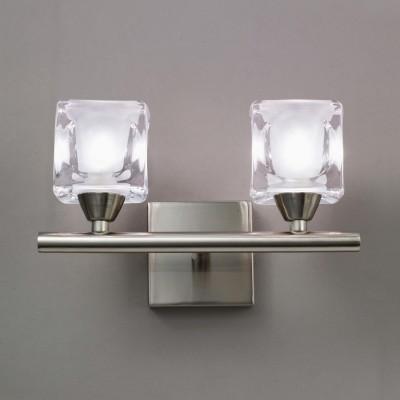 Светильник Mantra 4030 CUADRAXБра хай тек стиля<br><br><br>S освещ. до, м2: 5<br>Тип лампы: галогенная / LED-светодиодная<br>Тип цоколя: G9<br>Цвет арматуры: серебристый никель<br>Количество ламп: 2<br>Ширина, мм: 150<br>Размеры: W 200 H 150<br>Длина, мм: 200<br>Высота, мм: 150<br>Оттенок (цвет): белый<br>MAX мощность ламп, Вт: 40