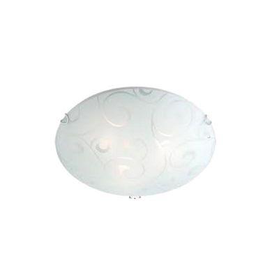Светильник тарелка Globo 40400-1 BikeКруглые<br>Настенно потолочный светильник Globo (Глобо) 40400-1 подходит как для установки в вертикальном положении - на стены, так и для установки в горизонтальном - на потолок. Для установки настенно потолочных светильников на натяжной потолок необходимо использовать светодиодные лампы LED, которые экономнее ламп Ильича (накаливания) в 10 раз, выделяют мало тепла и не дадут расплавиться Вашему потолку.<br><br>S освещ. до, м2: 4<br>Тип товара: Светильник настенно-потолочный<br>Скидка, %: 15<br>Тип лампы: накаливания / энергосбережения / LED-светодиодная<br>Тип цоколя: E27 ILLU<br>Количество ламп: 1<br>MAX мощность ламп, Вт: 60<br>Диаметр, мм мм: 250<br>Расстояние от стены, мм: 85<br>Высота, мм: 85<br>Оттенок (цвет): белый<br>Цвет арматуры: серебристый