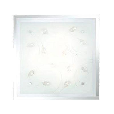Светильник Globo 40408-3 JasminaКвадратные<br><br><br>S освещ. до, м2: 8<br>Тип товара: Светильник настенно-потолочный<br>Скидка, %: 59<br>Тип лампы: накаливания / энергосбережения / LED-светодиодная<br>Тип цоколя: E27 ILLU<br>Количество ламп: 3<br>Ширина, мм: 420<br>MAX мощность ламп, Вт: 40<br>Длина, мм: 420<br>Расстояние от стены, мм: 85<br>Высота, мм: 85<br>Оттенок (цвет): белый<br>Цвет арматуры: серебристый