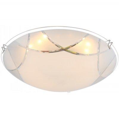 Светильник Globo 40431 InkaКруглые<br><br><br>Тип товара: Светильник настенно-потолочный<br>Скидка, %: 76<br>Тип лампы: галогенная / LED-светодиодная<br>Тип цоколя: LED<br>Количество ламп: 1<br>Ширина, мм: 250<br>MAX мощность ламп, Вт: 8<br>Длина, мм: 250<br>Высота, мм: 100<br>Цвет арматуры: серебристый