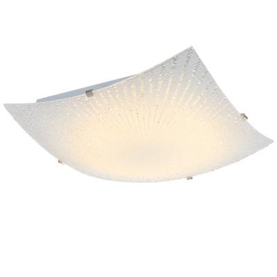 Светильник Globo 40449Квадратные<br><br><br>Тип товара: Светильник настенно-потолочный<br>Скидка, %: 64<br>Тип лампы: LED<br>Тип цоколя: LED<br>Количество ламп: 1<br>MAX мощность ламп, Вт: 12<br>Диаметр, мм мм: 300<br>Высота, мм: 85<br>Цвет арматуры: серебристый