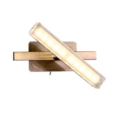 Светильник спот Idlamp 406/1A-Oldbronze Roberta OldBronzeХай-тек<br><br><br>Крепление: Настенные<br>Тип товара: Споты<br>Скидка, %: 41<br>Тип лампы: LED<br>Тип цоколя: LED<br>Количество ламп: 1<br>Ширина, мм: 118<br>MAX мощность ламп, Вт: 5<br>Длина, мм: 200<br>Высота, мм: 114<br>Цвет арматуры: бронзовый