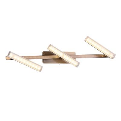 Светильник спот Idlamp 406/3A-Oldbronze Roberta OldBronzeБра хай тек стиля<br><br><br>Крепление: Настенные<br>Тип лампы: Накаливания / энергосбережения / светодиодная<br>Тип цоколя: LED<br>Цвет арматуры: бронзовый<br>Количество ламп: 3<br>Ширина, мм: 118<br>Длина, мм: 620<br>Высота, мм: 114<br>MAX мощность ламп, Вт: 5
